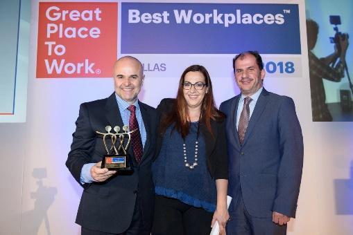 "H Bizerba Hellas βραβεύεται ως ""Best Workplace 2018"" στην επέτειο των 10 χρόνων λειτουργίας της"