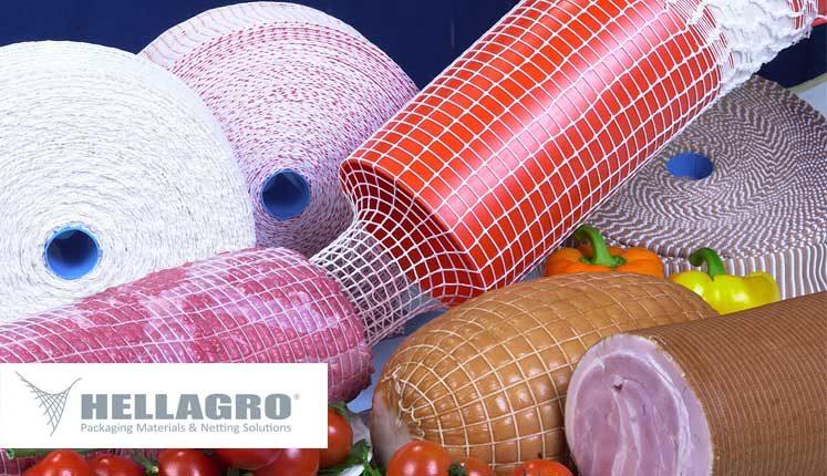 Ελαστικά δίχτυα της HELLAGRO, κατάλληλα για τη συσκευασία ψητού, καπνιστού, βραστού κρέατος και σαλαμιού