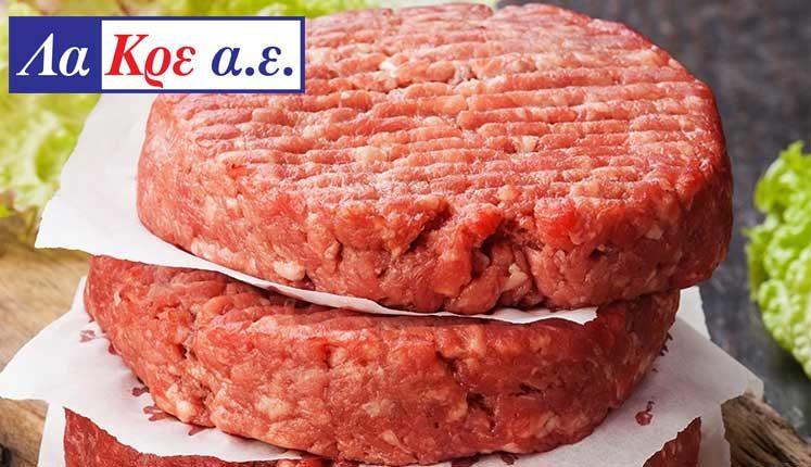 ΛΑ ΚΡΕ ΑΕ: Μπιφτέκι Burger Black Angus, από 100% βόειο κρέας μοσχαριού σκωτσέζικης εκτροφής Aberdeen