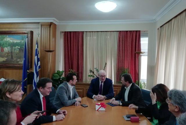 Συνάντηση Σταύρου Αραχωβίτη και Νίκου Παππά, με τον Ευρωπαίο Επίτροπο Phil Hogan