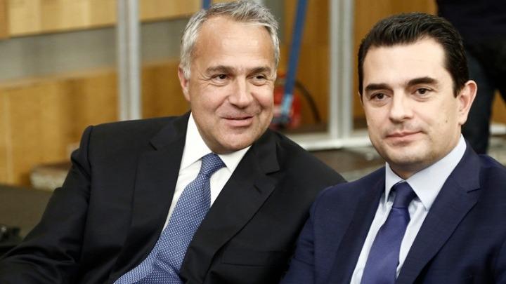 Ο Μ. Βορίδης με Κ. Σκρέκα και Χαρ. Κασίμη στο συμβούλιο των υπουργών Γεωργίας