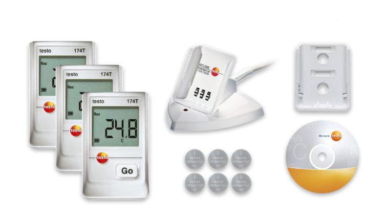 Αξιόπιστη παρακολούθηση θερμοκρασίας με το Testo 174T starter set